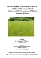 """995 KB – Monitoring 2015 – FFH-Gebiet 6318-306 """"Gronauer Bach mit Hummelscheid und Schannenbacher Moor"""" (naturplan)"""